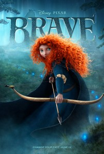 Poster for the movie, Brave