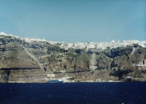 Island of Santorini, in the Caldera