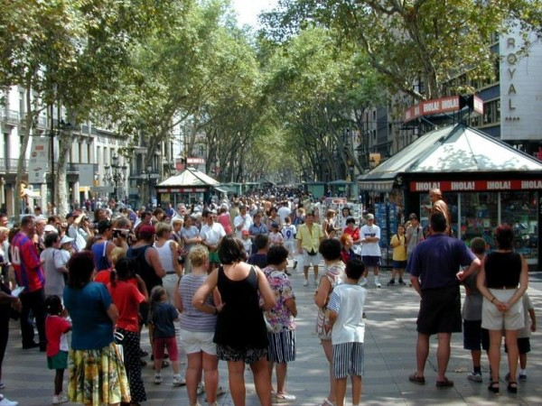 The Ramblas, Barcelona, Spain