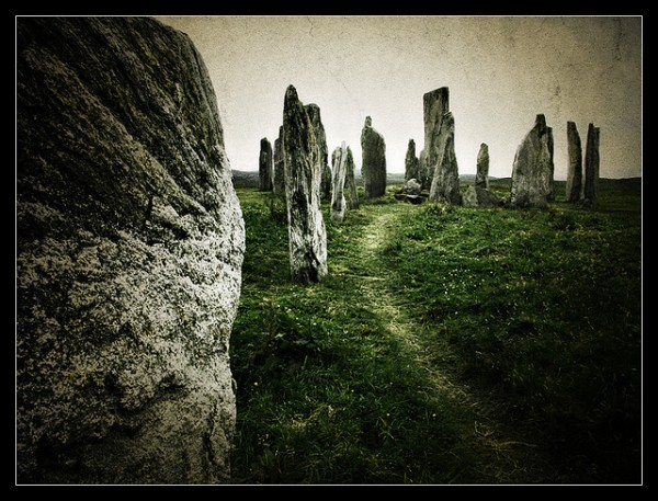 Menhirs in Hebrides