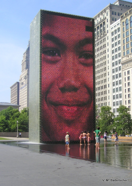 Millenium Park Crown Sculpture
