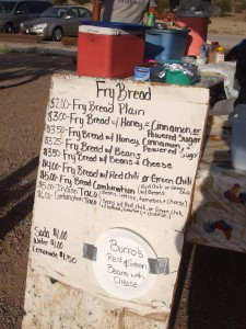 San Xavier del Bac food booth menu