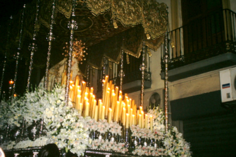 A Virgin  float at the cathedral