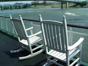 Deck of Mississippi Riverboat