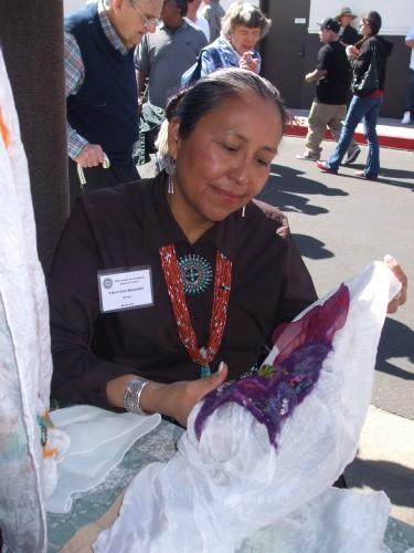 Navajo felter at Heard Museum Indian Market