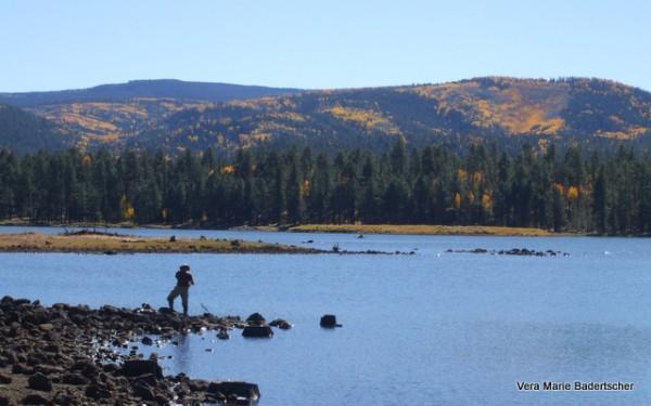 Fisherman at Apache Reservation Lake