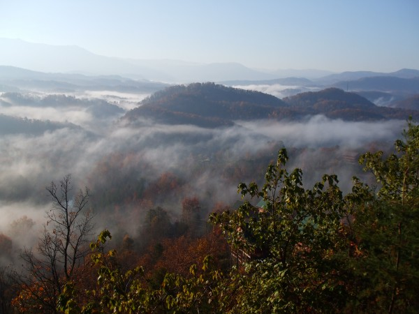Smokey Mountains--View from Dollywood Vacation Cabin