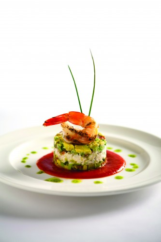 Chilled Gulf Shrimp Blue Crab and Avocado