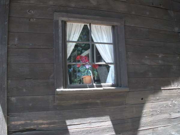 Cabin Window at the Pioneer Museum in Flagstaff