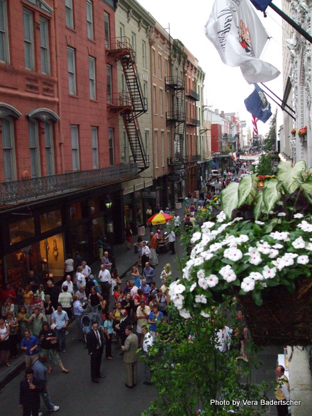 Royal Street from Hotel Monteleone during Food & Wine Festival