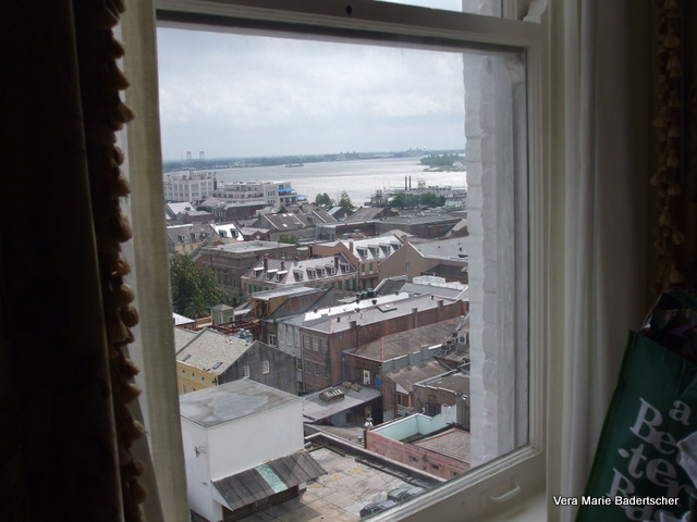 Mississippi River from Hotel Monteleone room