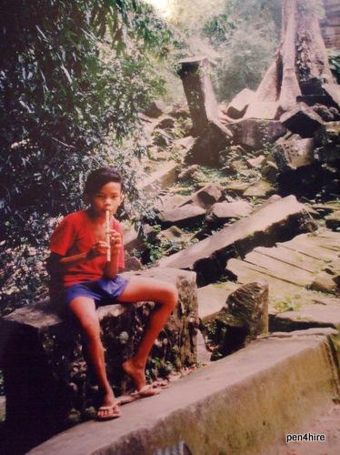 Flute Player in Cambodia