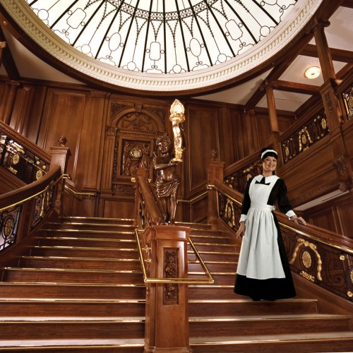 Maid Jaynee on Grand Staircase