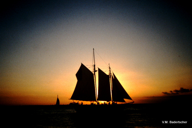 Sailboat and sunset, Key West
