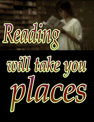 Reading will take you places