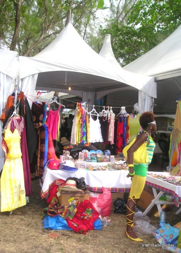 Shopping at the St. Lucia Jazz Festival