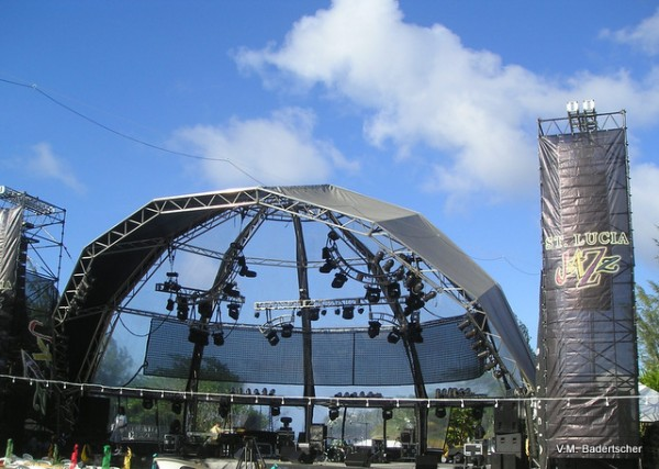 Main Stage at St. Lucia Jazz Festival