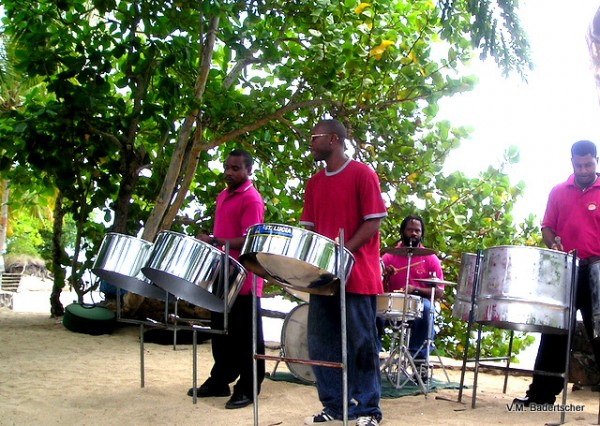 Music on the beach at St. Lucia