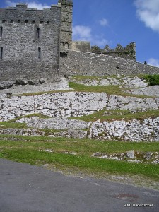 Cashel Rock and the outer walls
