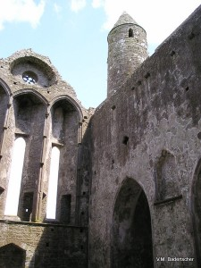 Arched windows on interior of Cathedral, Cashel, Ireland