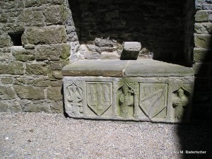 12th century Stone Sarcophagus in Cormac Chapel, Rock of Cashel, Ireland