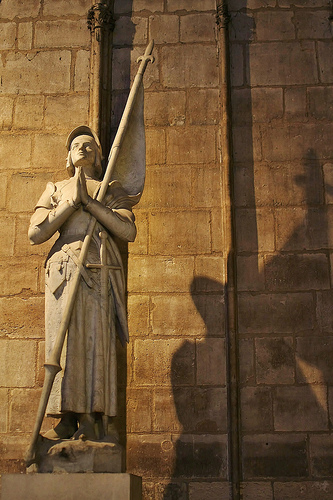 Joan of Arc statue in Notre Dame