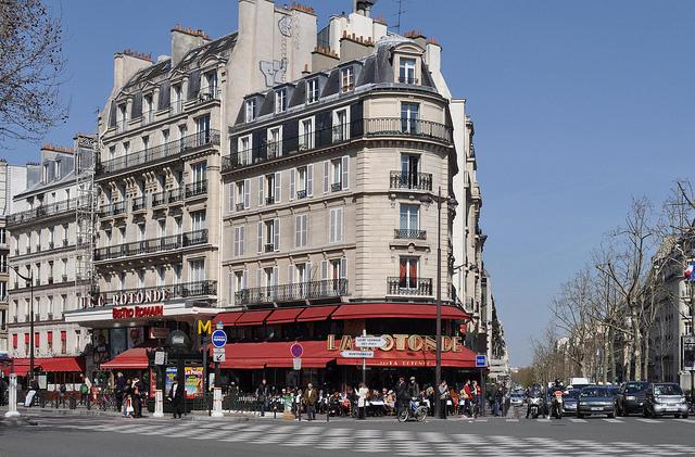 Montparnasse, Paris street corner