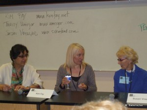 Thrity Umrigor, Kim Fay and Susan Vreeland