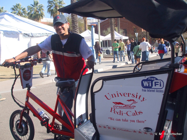 Pedicab at University of Arizona