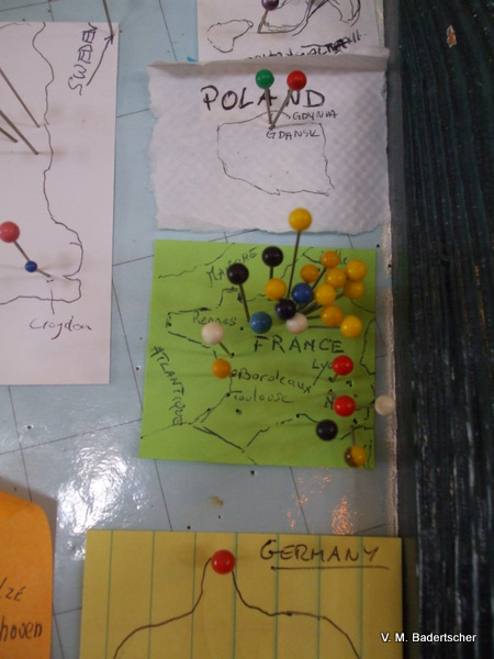 Travel Photo of map of France and Poland