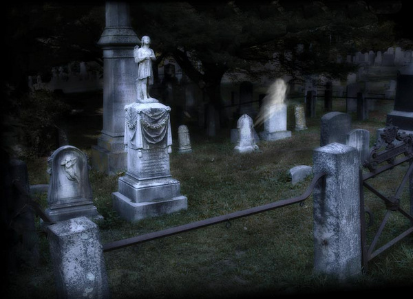 Ghosts in Sleepy Hollow Cemetery