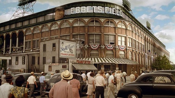 Ebbets Field, home of the Brooklyn Dodgers