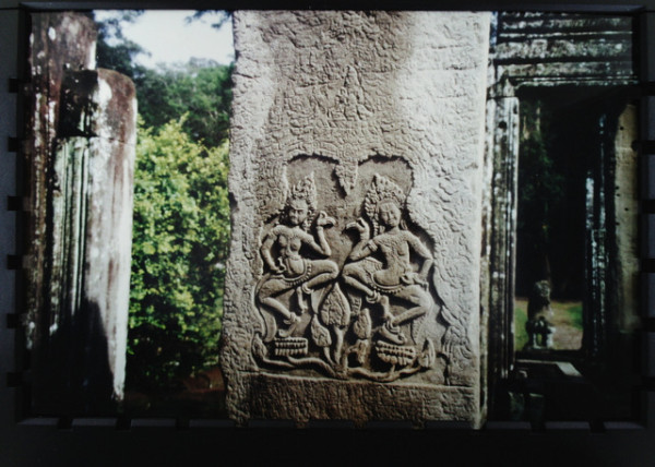 Carving of Apsaras at Bayon Temple, Cambodia