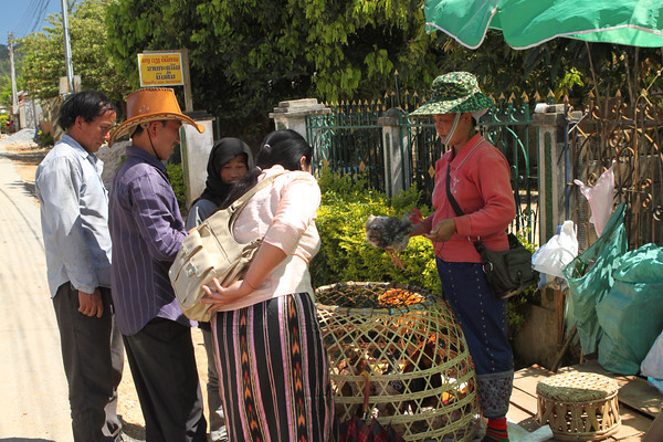 Laos market at Pakse