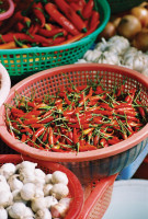 Vietnam Food:Chilis and Garlic.