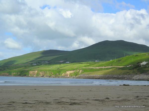 Hills above Inch Beach, Ireland