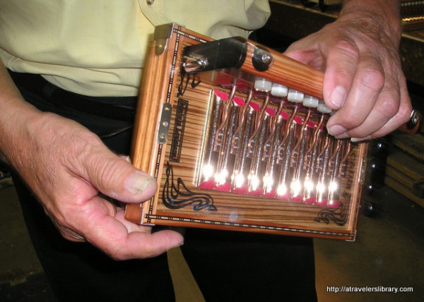 Inside a Cajun accordion