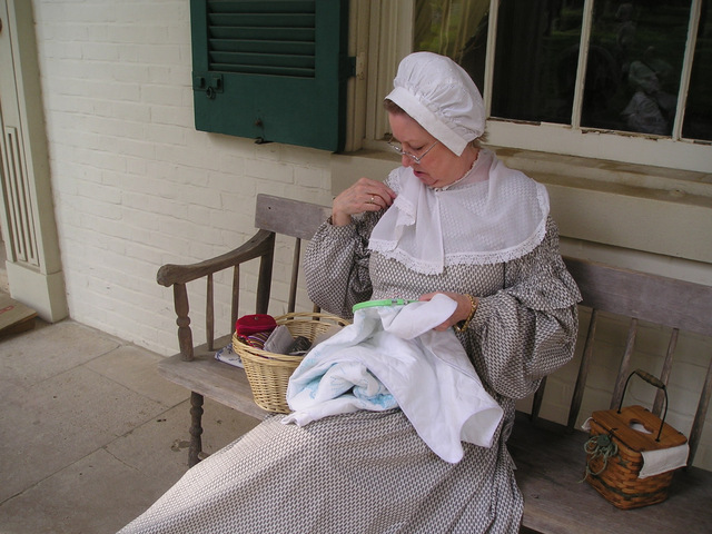 Re-enactor at Andrew Jackson home