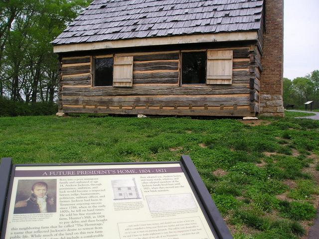 Andrew Jackson log cabin