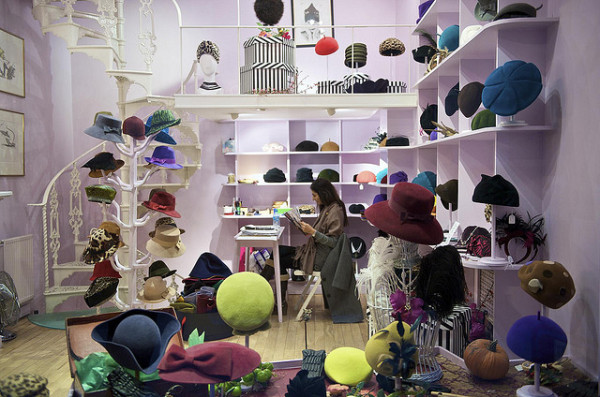 A London hat shop
