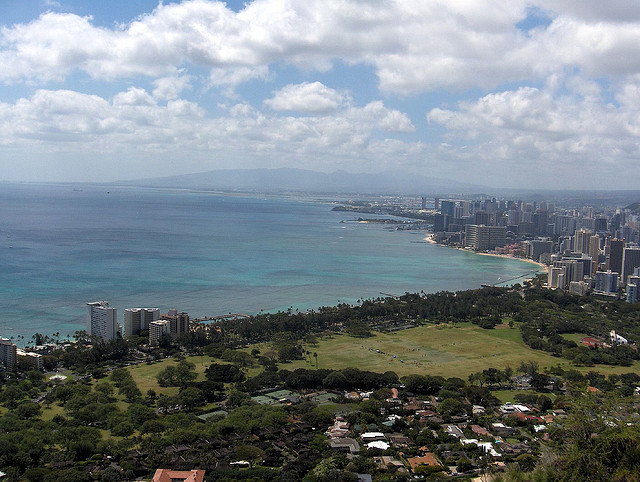 TV Show Location: Waikiki from Diamond Head