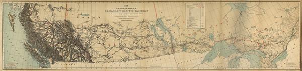 Canadian Railroad map 1877