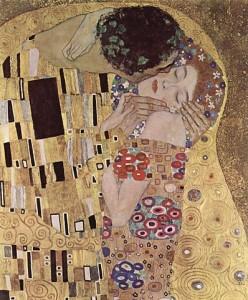 The Kiss by Gustav Klimpt, via Wikimedia Commons