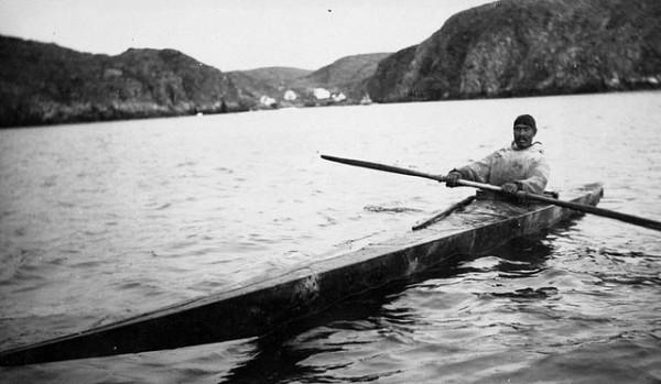 Inuit Man in Kayak