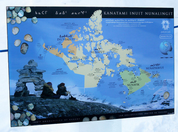 Inuit Nation on a map