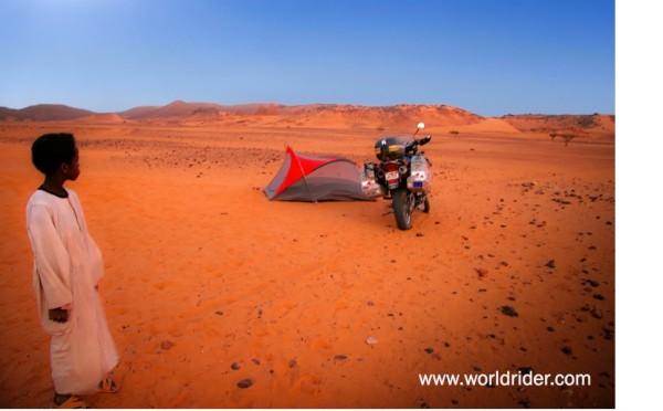 Allan Karl camping in Africa