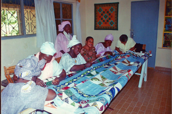 Women in Mali quilting