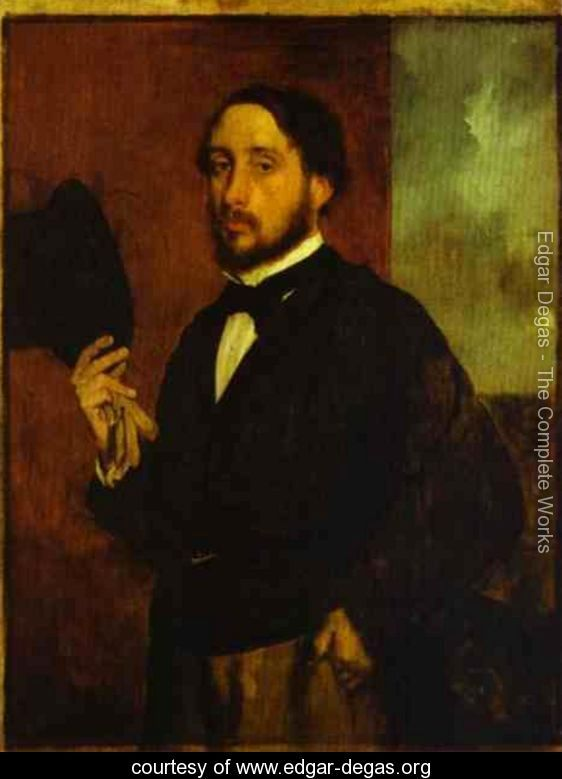 Bell Epoque Self portrait by Degas