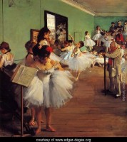Belle Epoque painting of Degas dancers