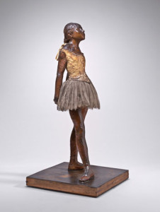 e National Gallery's wax Little Dancer Aged Fourteen, 1879-81, the only sculpture Degas ever allowed to be exhibited. NATIONAL GALLERY OF ART, WASHINGTON, D.C., COLLECTION OF MR. AND MRS. PAUL MELLON